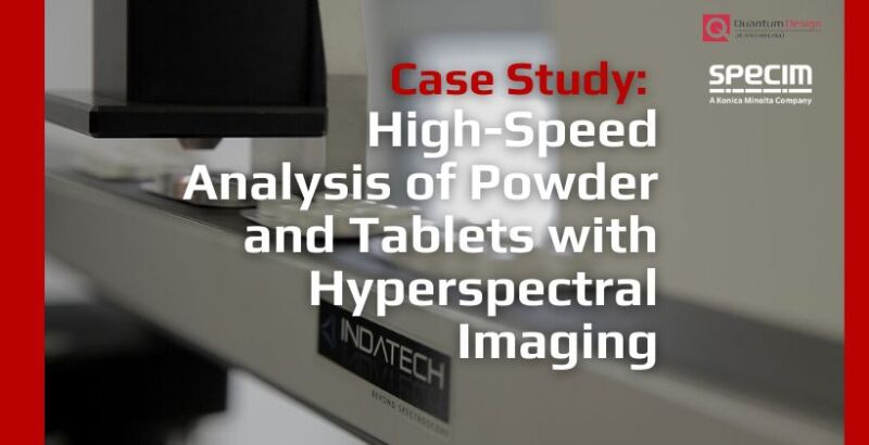High-speed analysis of powder and tablets with hyperspectral imaging